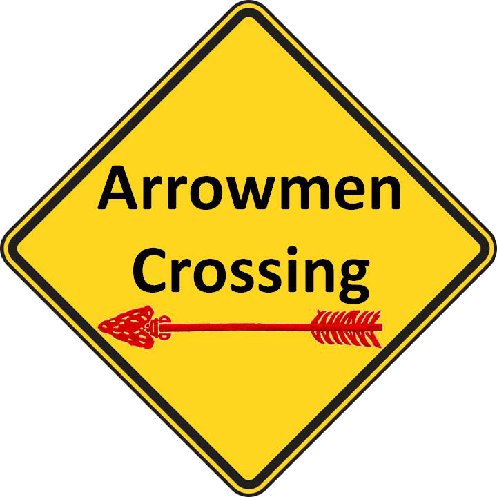 Arrowman crossing sign